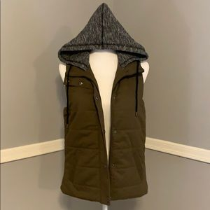Olive Green zip up vest